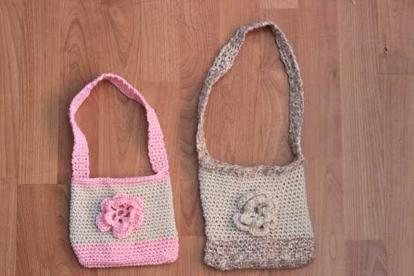 Crochet Bags For Kids Free Pattern : little-crochet-bags... free tutorial... crochet/knitting Pinterest