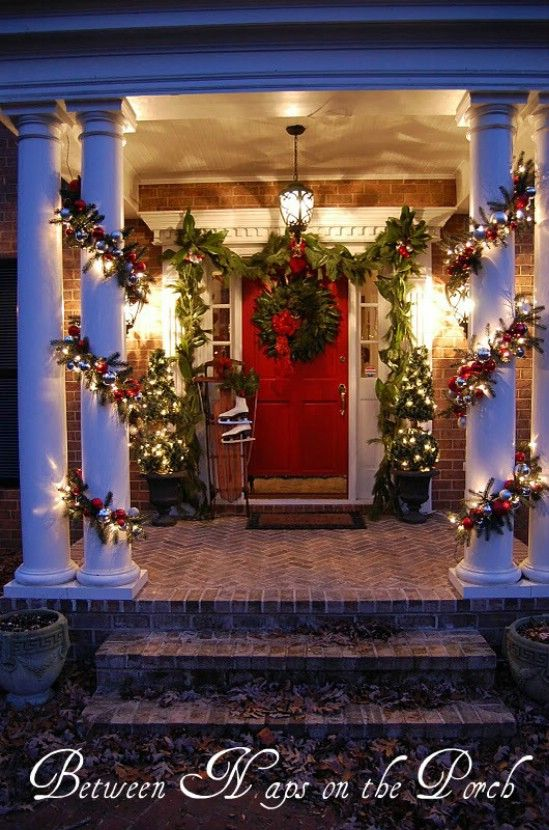 Use Fresh Twigs - 60 Beautifully Festive Ways to Decorate Your Porch for Christmas