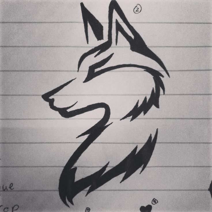 Simple wolf design - photo#28