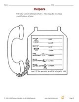 Emergency phone girl scouts pinterest for Important numbers template