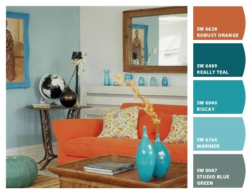 Craft Room | Color Schemes! | Pinterest 519 x 399