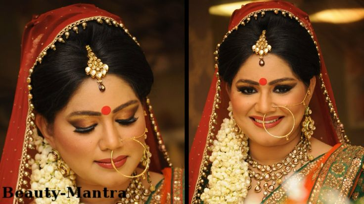 Traditional Hindu Bridal Makeup Beauty // Beleza Pinterest