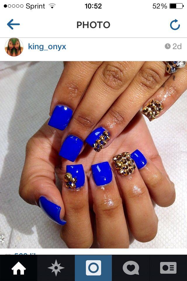 Blue shellac nails. | Nails | Pinterest