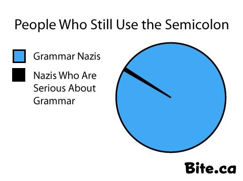 The use of semicolon