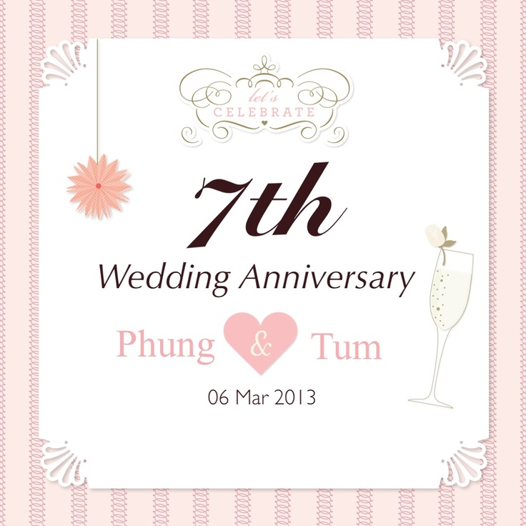 7th Wedding Anniversary Gifts For Couples : 7th Anniversary Couple 7th Work Anniversary