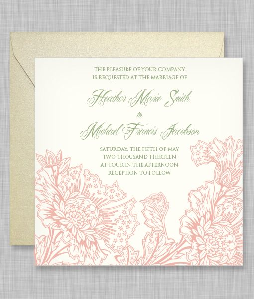 DIY Sophia Flowers Wedding Invitation from #downloadandprint. Have ...