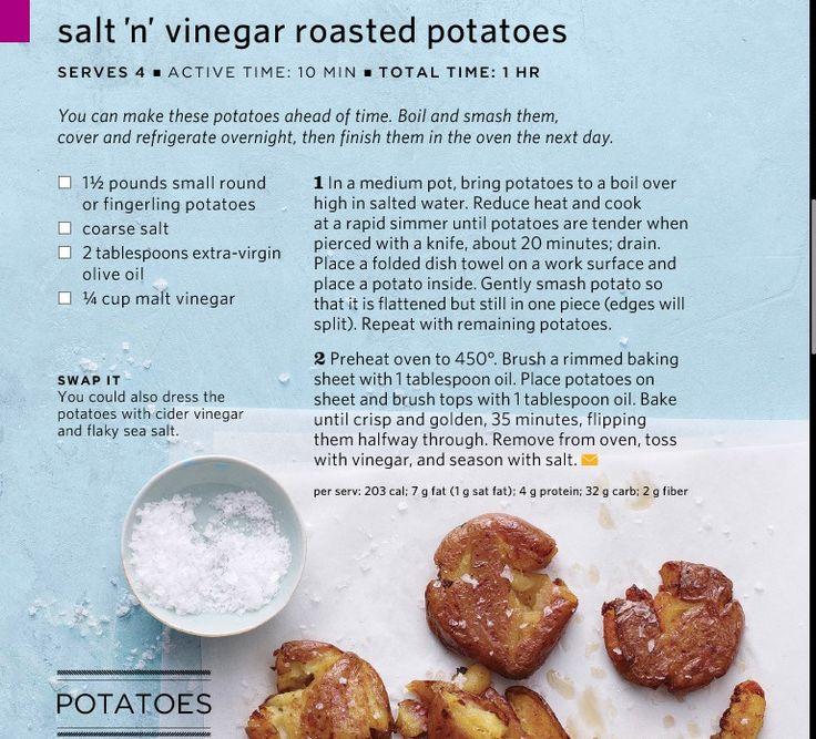 Salt-n-Vinegar Smashed Potatoes | Dinner | Pinterest