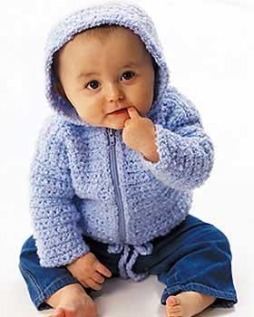 Free Baby hoodie with zipper pattern Crochet/Knit - Girl ...