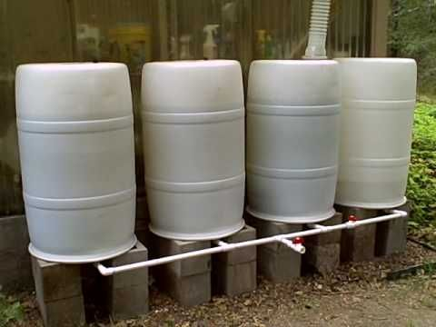 Rainwater collection system homesteading pinterest for Making rain barrel system