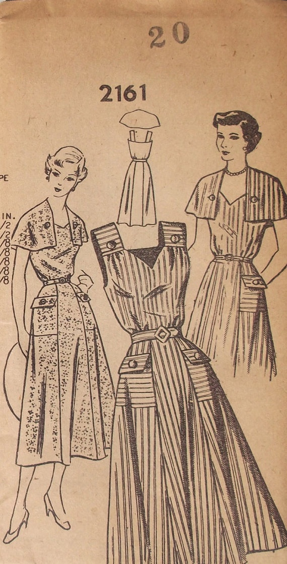 1940s Pattern Bureau Mail Order 2161 Vintage by GreyDogVintage, $18.00