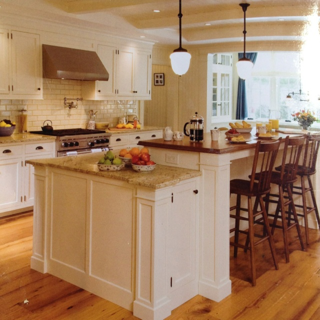 Two level island kitchen pinterest for Two level kitchen island