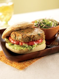Curry-spiced veggie burgers -- you don't have to have meat to make the ...