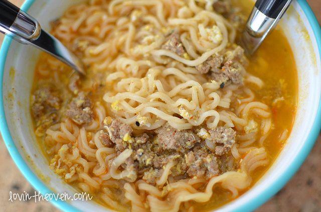 Turkey Taco Ramen - Quick Dinner Idea for upcoming school nights