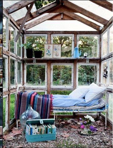 Växthus med day bed