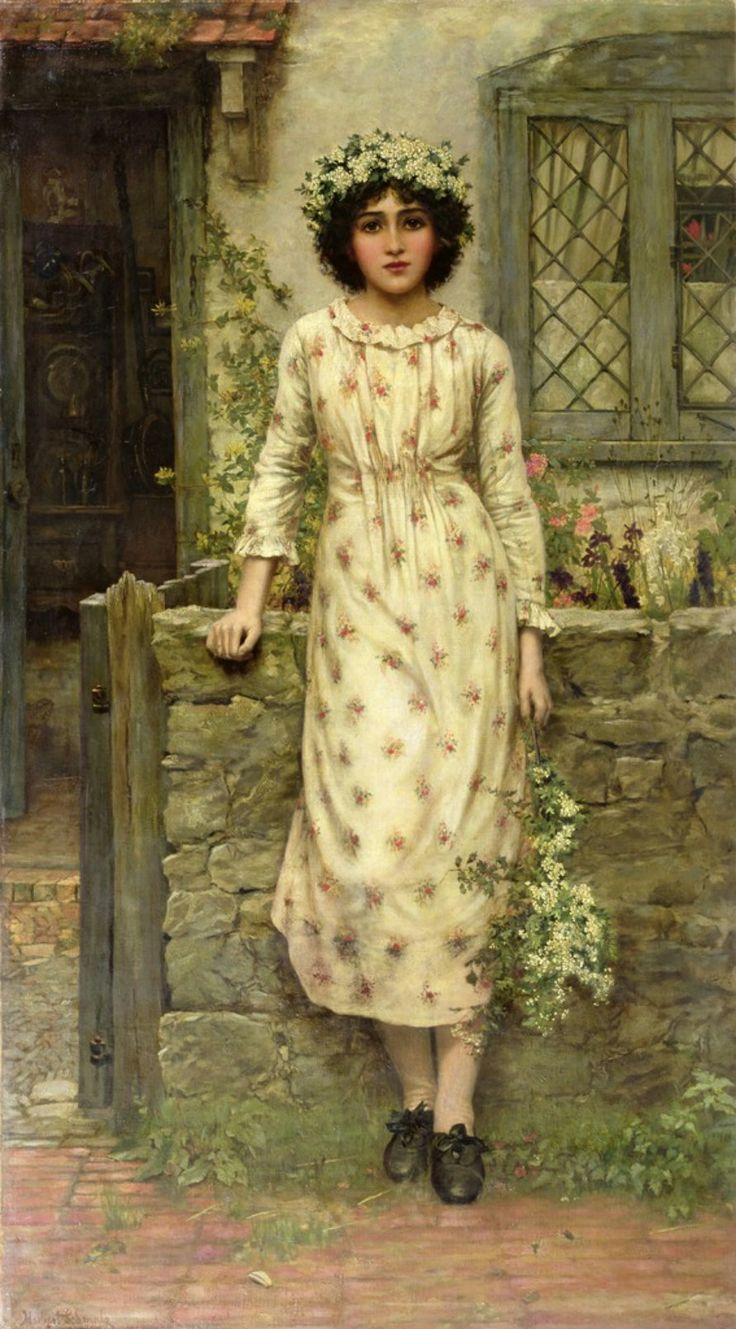 Herbert Gustave Schmalz-Carmichael ( 1856-1935) —  Queen of the may Queen of the May (891×1609)