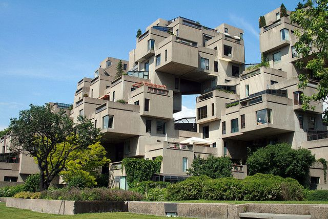 Brutalist architecture architecture pinterest for Habitat 67 architecture