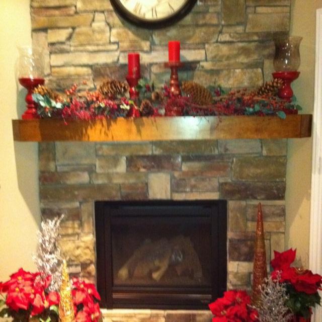 Christmas Decorations Fireplace Holidays Pinterest