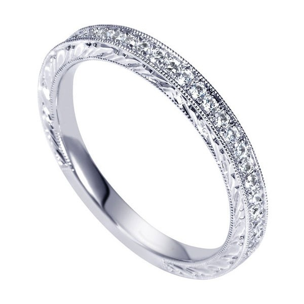 Genesis Designs WB8821W44JJ Wedding Ring 14K white gold victorian ...