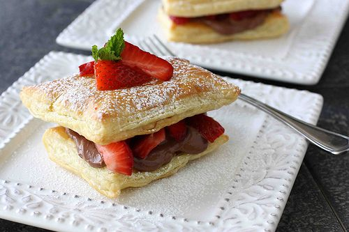 Strawberry and chocolate cream cheese napoleon recipe...OMGoodness