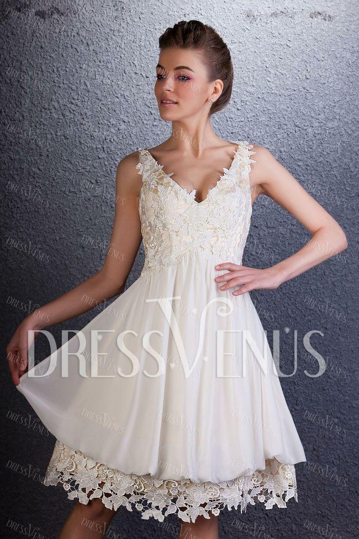 Stunning mini v neck sleeveless daria s cocktail homecoming dress