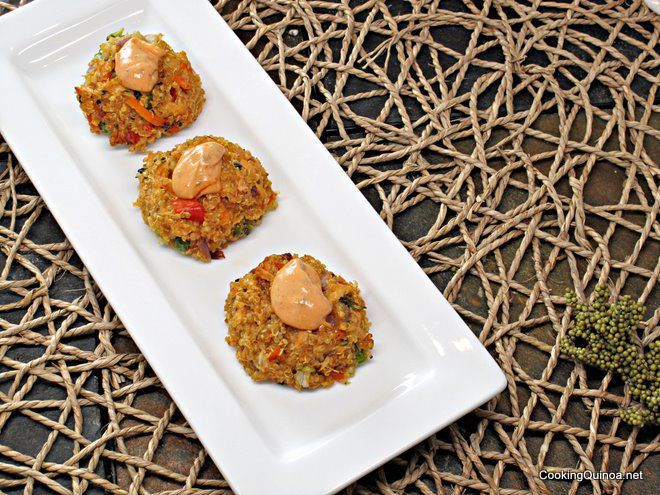 ... into Quinoa lately...and these Baked Veggie Quinoa patties look yummy