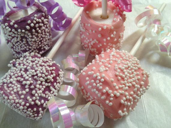 sparkle shine marshmallow pops vanilla 1 dozen baby shower