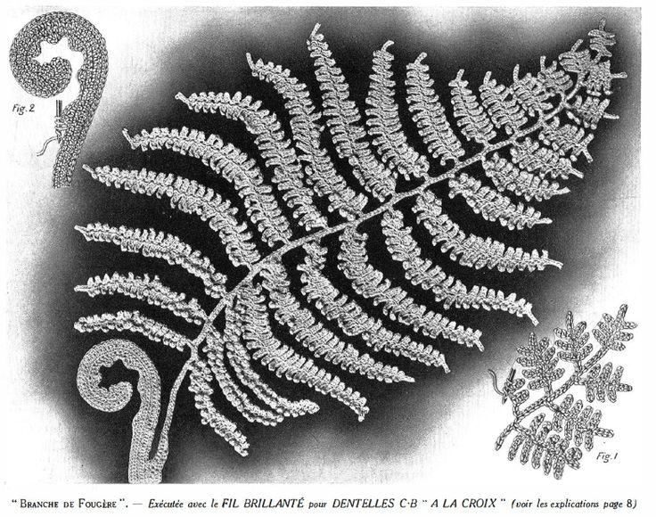 Free Crochet Fern Leaf Pattern : Crochet Fern Leaf CROCHET PATTERNS Pinterest