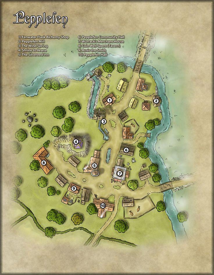 Fantasy village map generator