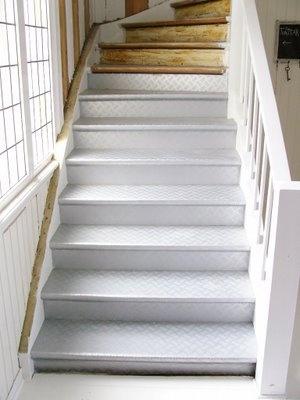 stairs with linoleum diy pinterest. Black Bedroom Furniture Sets. Home Design Ideas