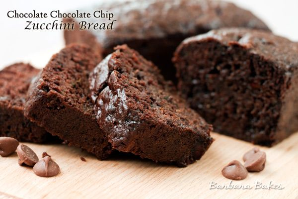 Chocolate Chocolate Chip Zucchini Bread   Recipe