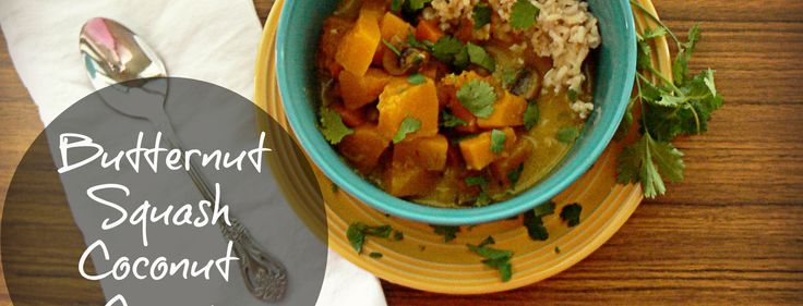 Butternut Squash Coconut Curry and Brown Rice