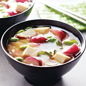 Miso Soup with Radishes and Edamame recipe - Fresh Juice