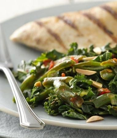 Harissa Green Beans and Kale | Recipe