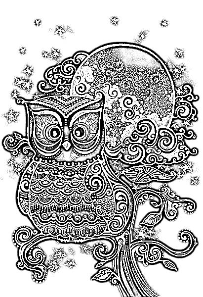 Abstract Owl Coloring Pages For Pinterest Abstract Owl Coloring Pages