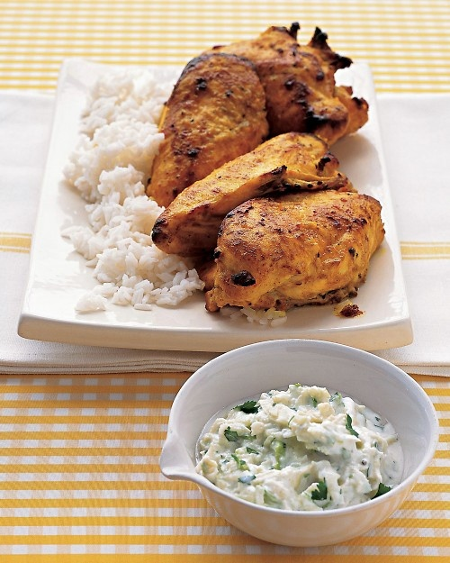 ... dudes!!!! Tandoori Chicken with Yogurt Sauce - Martha Stewart Recipes