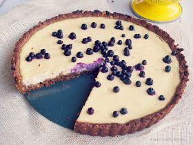 Lemon Ricotta Tart with Walnut Ginger Snap Crust and Wild Blueberries ...