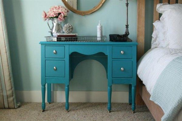 Teal Desk Painted Furniture