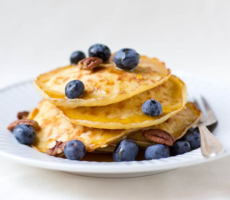 "Cottage Cheese Pancakes. ""Pillowy and hearty."""