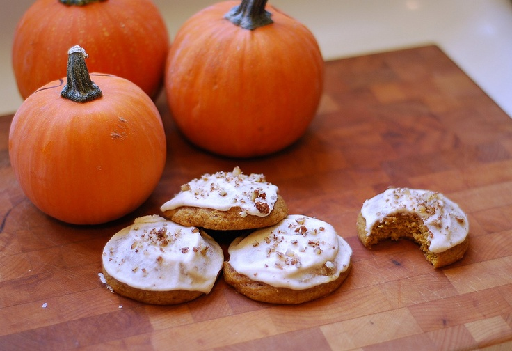 Maple Iced Pumpkin Cookies | Holiday Recipes: Thanksgiving | Pinterest