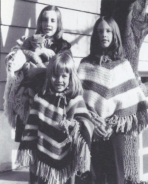 1972 - #crochet ponchos