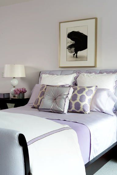 Color scheme purple and grey bedroom bliss pinterest - Lavender and gray bedroom ...