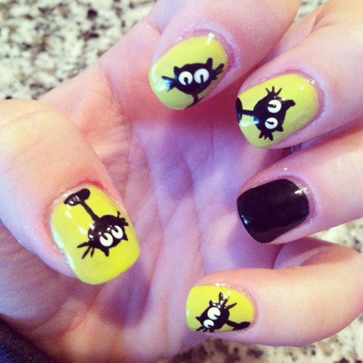 Colorful Halloween Cat Nails Picture Collection - Nail Art Ideas ...