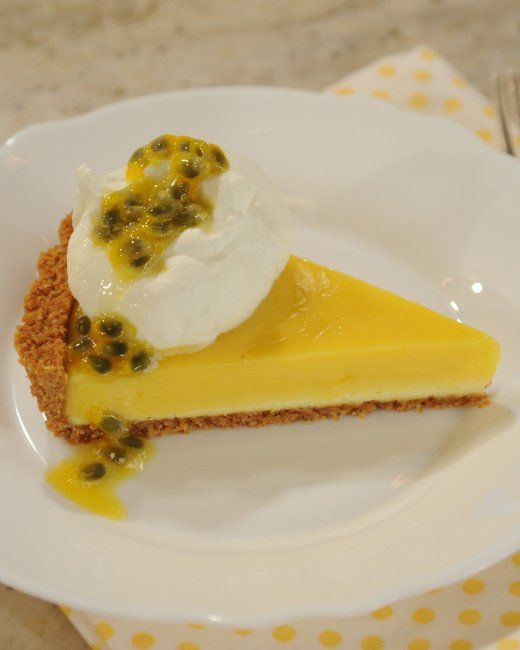Passion Fruit Cheesecake Tart Recipe — Dishmaps