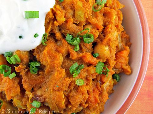 Curried Sweet Potatoes and Chickpeas | Recipe