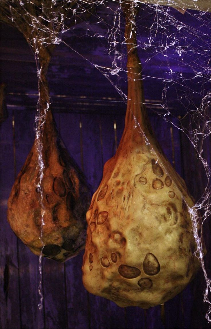 How to decorate with alien cocoons for halloween for Alien decoration