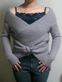 Wrap with sleeves, free knitting pattern