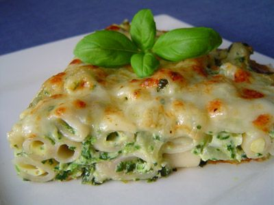 Pasta, Spinach and Three-Cheese Frittata | Recipe