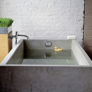 Concrete sink and tub roundup by for Diy concrete bathtub