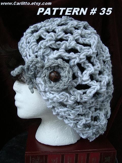 Crochet Patterns One Skein : Crochet Hat Pattern No. 35.... 60 Minute, One Skein , Chunky Style Ra ...