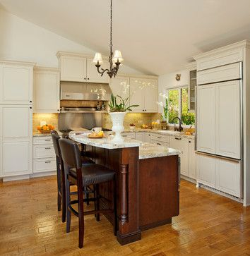 Two tiered island kitchen and dining pinterest